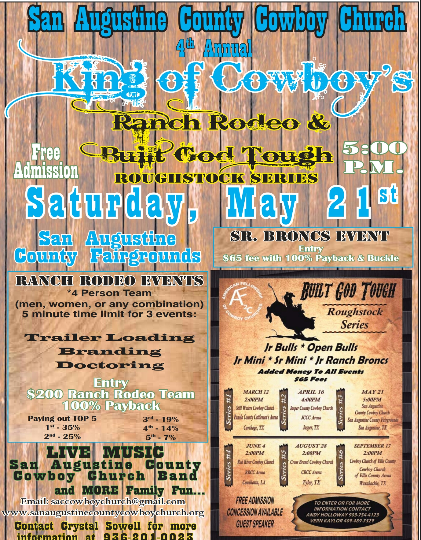 4th Annual King Of Cowboy S Ranch Rodeo Amp Built God Tough
