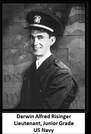 Darwin Alfred Risinger Lieutenant (Junior Grade), US Navy, World War II, Missing In Action