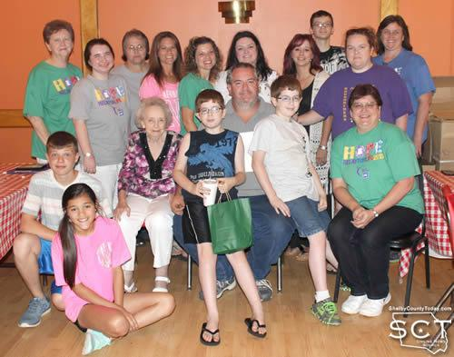 Relay for Life committee members, team leaders, team members and family members attended the Wrap-Up Party at Pizzeria.
