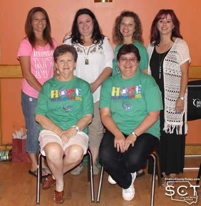 Committee members (from left, standing) Stacey Scarborough, Sandy Runnels, Kristen Whisenant, Stacy O'Rear, (seated) Shirley Brittain and Becky Parfait.