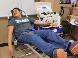 Pictured is Senior, Health Science Student, Kaleth Salazar