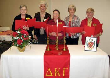 From right: Judy Adkison, Nora Robinson, Billie Bailey, Sue Carter and Linda Bordelon