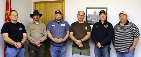 Left to Right: Rodney Mathews, Waylon Griffith, John Green, Del Birdwell, Pat Thomas, and David Andrusick