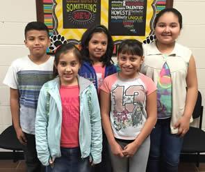 Art Smart Team: (back row) Michael Santanna, Britney Barona, Neida Flores, (front row) Samantha Flores, Angelica Sandoval