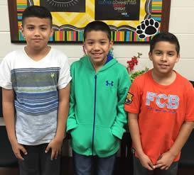 UIL Music Memory Team: Michael Santanna, Misael Hernandez, Leonardo Martinez
