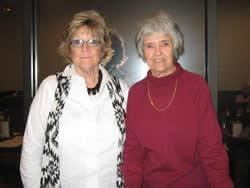 Photo from left: Melba Pahal, Delta Gamma Program Chairman and Loretta Bedford