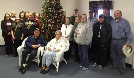 Pictured from left to right are, seated, Garth LaGrone, and JoNell LaGrone-widow of Jimmy LaGrone; standing, Merry LaGrone Bagley, Butch Marsalis, Alyssa Fensom, Brenda LaGrone McLane, Brandi McLane Kelley, Kelly LaGrone, Jimmy Nell LaGrone Oliver, Virginia Wood, Mack LaGrone, Sue Ann McMillian Ware, Kathy LaGrone, Tommy LaGrone, Jimmy Ray Oliver, Gavin LaGrone, and Mike LaGrone. Not pictured but present are Courtlyn Fensom, Brenton Fensom, and Rodger Glen McLane.