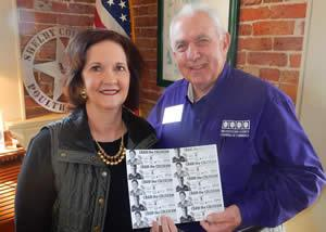 Pictured are (from left) Pam Phelps, Shelby County Chamber of Commerce Executive Director and Bill Teague, Nacogdoches Chamber of Commerce Interim President/CEO. Photo Credit: Kelly Daniel, Nacogdoches Chamber of Commerce.