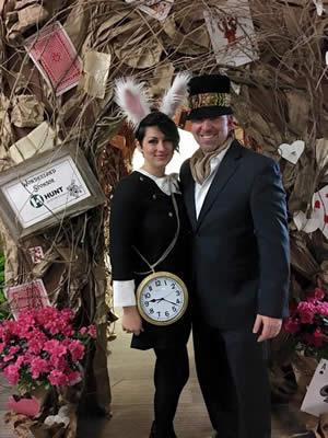 Cody and Wendy Arnold pose outside of the rabbit tunnel