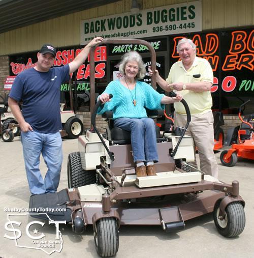 From left: Bradley Richard, owner of Backwoods Buggies; Silver Motley and Luke Motley III
