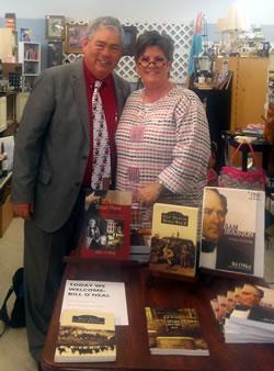 From left: Bill O'Neal and Annette Peters. Photo by Crystal Berg.