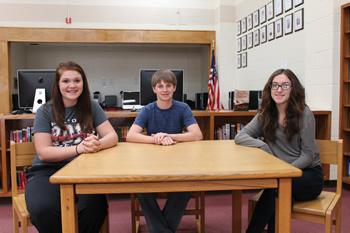 Pictured, left to right: Lindsey Holbrook, Christian Schilder, Hannah Nicosia