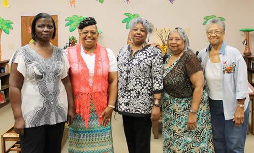Members pictured (from left): Mildred Lister, Norma Lister-President, Tharasa Netherly-Thomas-Treasurer, Faye D. Allen – Assistant Treasurer, and Christine Patton