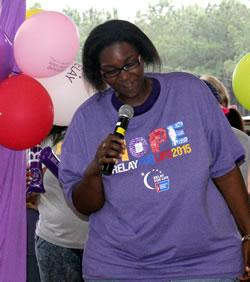 Danquien Horton at Relay for Life 2015
