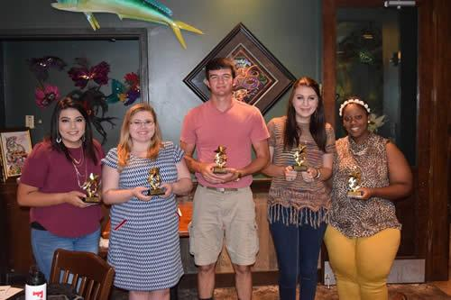 Member's Choice Awards:  Vanesa Pacheco - Best New Ideas; Cadey Belrose - Most Appreciative; Cutter Smith - Most Diplomatic; Darian Hutto - Most Courteous; Kiasmin Page - Most Devoted.