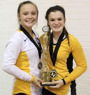 Kameron Courtney (left) and Molly Sanford (right) were selected to the All Tournament team.