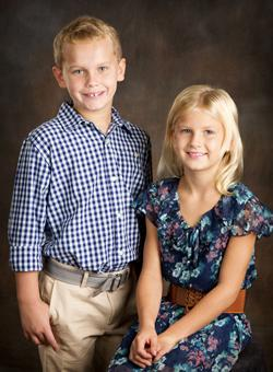 Cambree Bush, the daughter of Colt and Collin Bush, and Grant Gregory, the son of Mr. and Mrs. Matt Gregory