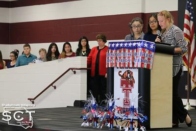 Each member of the Junior High and High School Beta Club members expressed their appreciation to local Veterans with poems and stories.