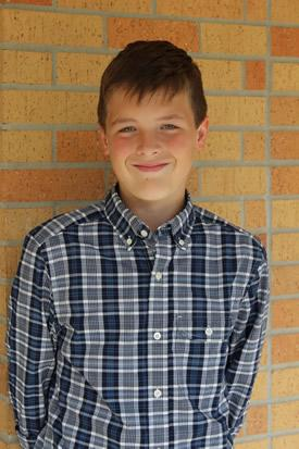 Pictured above is Andrew Tyner, this month's winner of the Khan Academy math competition.