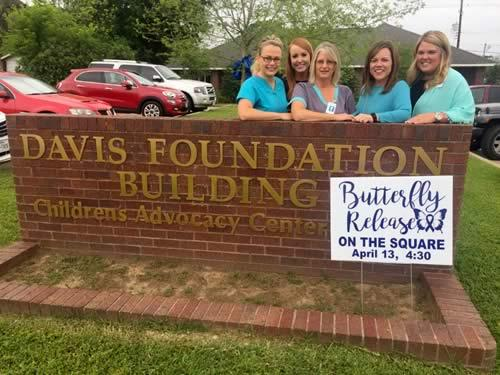 Pictured (L-R): Sara Lloyd, RN; Megan Sample, Office Coordinator; Evelyn Roberts, LVN; Denise Merriman, SCCAC Executive Director; and Casey Lout, Director of Public Relations and Office Supervisor.