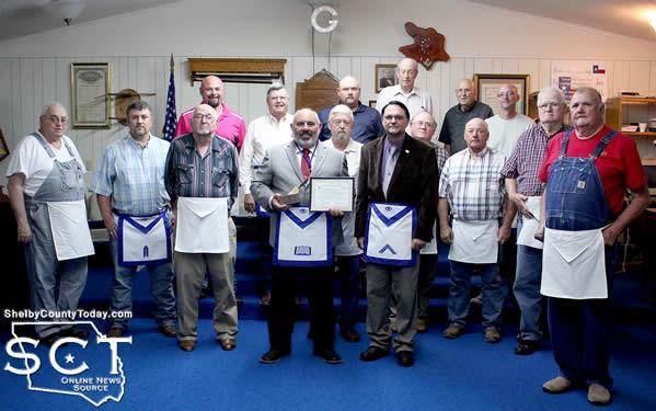 Vance Jordan is seen with members of Joaquin Lodge #856 as well as with members from other lodges.