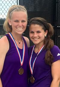 Girls Doubles 3rd in the Region: Megan Dunn / Whitlee Reed