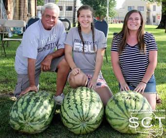 2016 top three melons all weighed in more than 100 lbs!