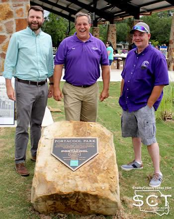 Pictured are (from left): Hunter Rush, MHS Planning & Design, LLC; Chad Nehring, Center City Manager; and Keith Oliver, City of Center.