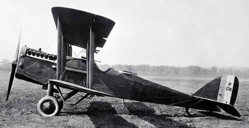De Havilland DH 4.  The only US built aircraft to see combat during World War I.  It was used primarily for daytime bombing, observation and artillery spotting.  This is the type of plane Lieutenant Neal would have flown. Photo courtesy of the National Museum of the US Air Force.
