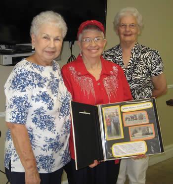 Photo: (from right) Golden Harvest Ministries Club President Helen Collard, Historian Linda Bordelon, and Ann Forbes.