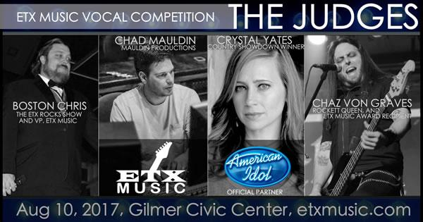 Judges for the ETX Music Vocal Competition