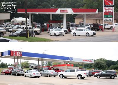 Local fuels displayed longer than normal wait times Friday afternoon.