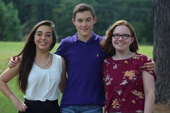 Newspaper - Bryanna Sample, Brady Wells, and Celeste Gibson