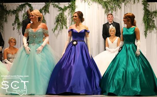 The top three contestants from left: Macey Jo Hanson, Michalla Byrd, and Kiersten Turner
