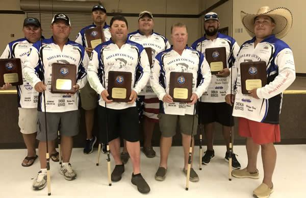 Pictured (from left): Bradley Odom, Ricky Sims, Josh Sowell, Darren Wiggins, Jacob Permenter, David Koonce, Gary Walpole, and team captain Jason Wells.