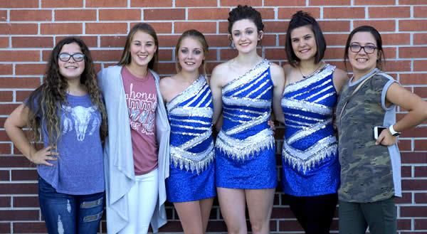 Pictured are (from left): Eighth Graders Hannah Holt and Avery Prnka, Freshman Sarah Ewing, Juniors Michalla Byrd and Arianna Rogers, and Eight Grader Lauren Neal.