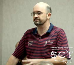 Jason Fulbright, Intelligent Computer Concepts, spoke with the commissioners about the advantages of switching the courthouse to fiber internet service.
