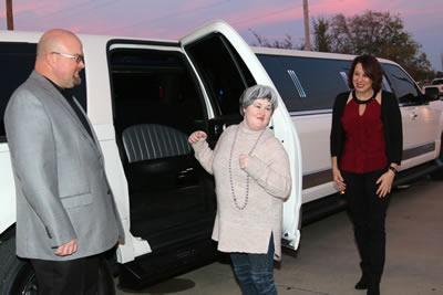 Rusty Evans of Rusty's Limo Service provided free rides for prom goers.