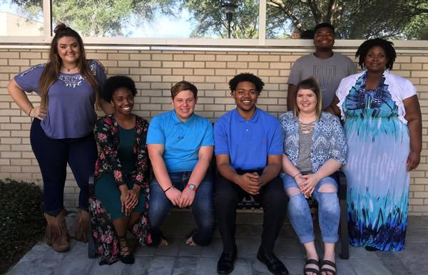 Panola College students selected to perform in the 2018 Texas Two Year College All State Choir Concert are, from left, Shannon James, Tenaha; Kyana Reagan, Lufkin; Hunter Moon, Beckville; Ahmad Casel, Jacksonville; Shelby Brown, Carthage; Christion Taylor, Longview and Jame'Cia Taylor, Carthage.