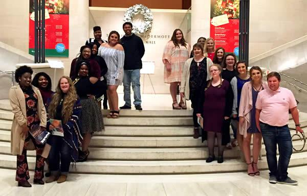 Members of the Panola College Chorale participated in a Christmas Cantata with other community colleges in the Dallas area on December 3.