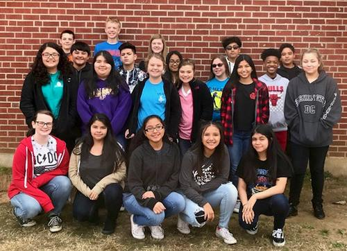 Center Middle School All-Region Students