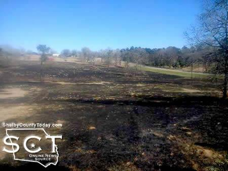 The West Shelby County Volunteer Fire Department fought a large pasture fire at the property of Huey Britt. The firemen were dispatched at 11:30pm and were assisted by the Center Fire Department. The firemen returned to their stations at 12:55pm. (Submitted photo)