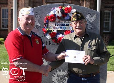 Post Commander Gene Hutto and Senior-Vice Commander Newton Johnson
