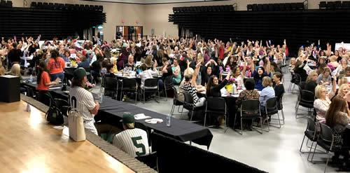 500 guests gathered to support Panola College and play Bingo for a chance to win a designer purse.