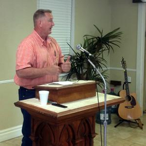 Mike Brister explained the purpose of the Stepstones International Ministry