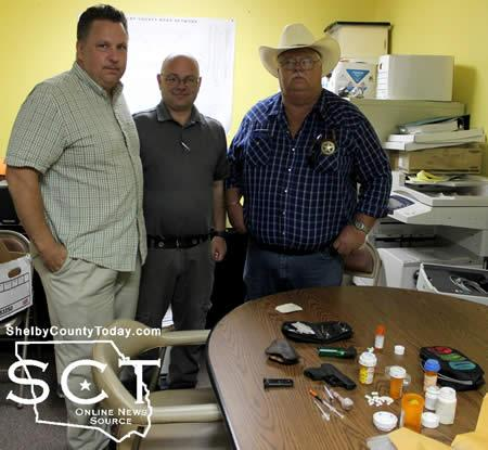 Several agencies were involved in the arrest of the McCoys. Pictured above are (from left) Shelby County District Attorney Stephen Shires, Shelby County District Attorney Investigator Joey Haley and Shelby County Constable for Precinct 3 Roy Cheatwood.