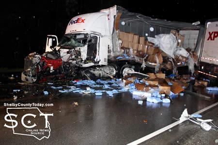 Dual 18-wheeler Collision Fatal for One Driver | Shelby