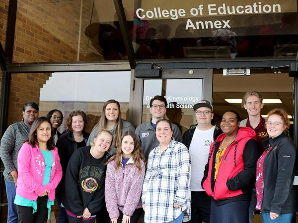 Members of Stephen F. Austin State University's Jack's Council on Family Relations collected and donated food to 137 families through its annual food drive, Thanksgiving Homebound. Representatives from the Greater East Texas Community Action Program Head Start (pictured), East Texas Family Crisis Center and Solid Foundation visited the SFA campus Monday to collect the donations. Members of SFA's Interfraternity Council also assisted with loading the boxes of food.