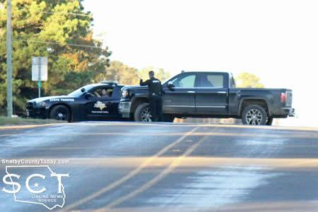 Center PD and DPS are seen coordinating with one another at FM 2788.