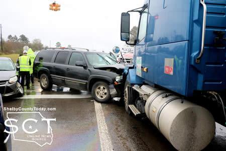 Loop 500, SH 87 Scene of Three-Vehicle Crash   Shelby County